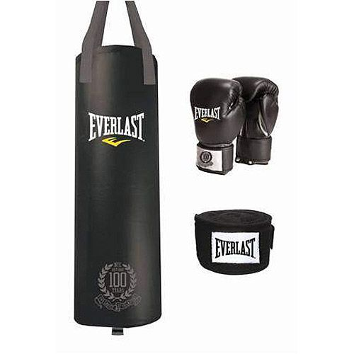 Everlast 100 Year Anniversary Lb Heavy Bag Kit
