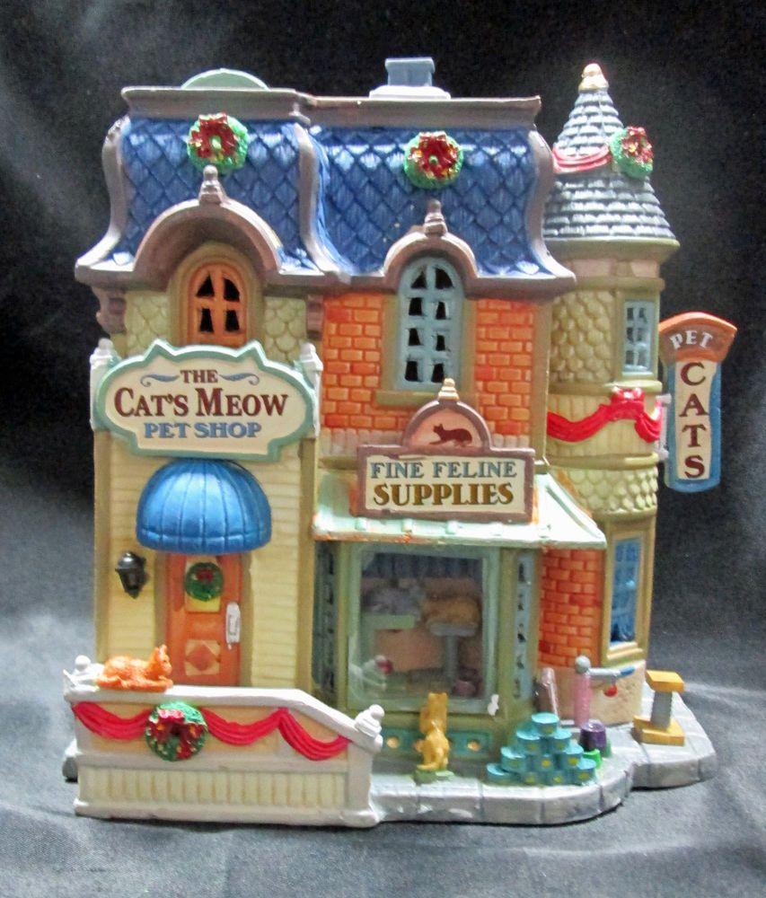 Lemax 2012 Cats Meow Pet Shop Porcelain Christmas Village