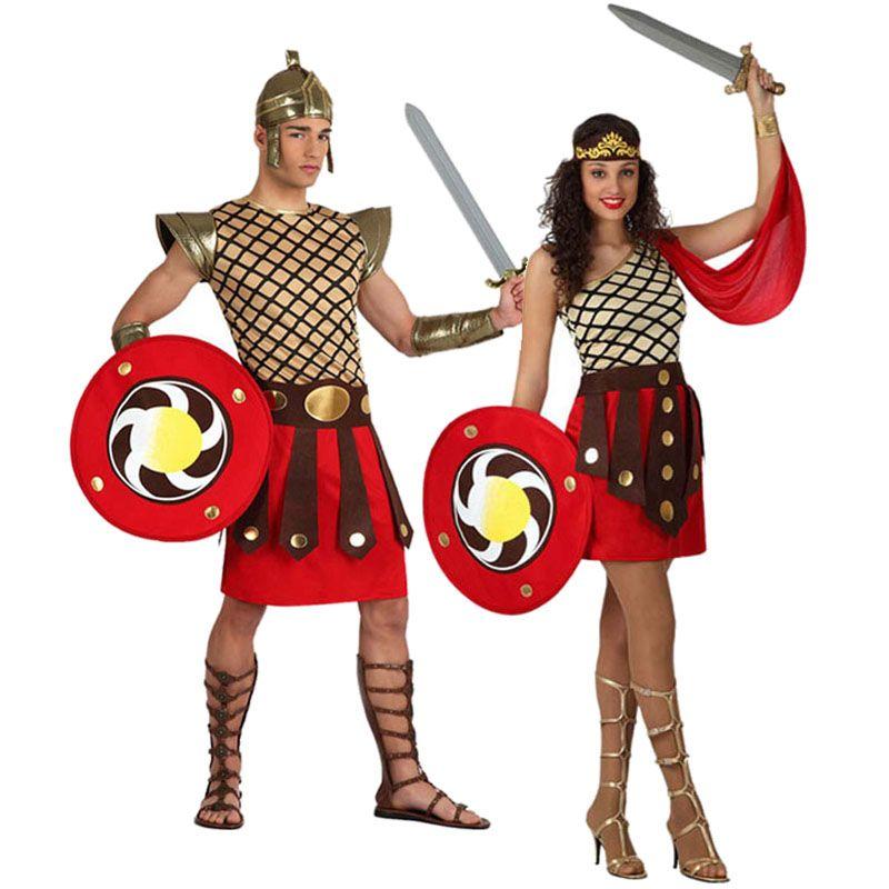 Pareja Gladiadores Romanos Espartanos  parejas  disfraces  carnaval   novedades2016 d9367e20dce7