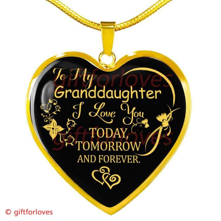 To My Granddaughter Luxury Necklace Grandchildren And Grandparents Birthday Gifts For