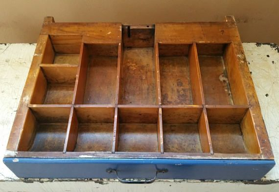 Vintage Wood Cash Drawer Wooden Register Till Industrial Cool
