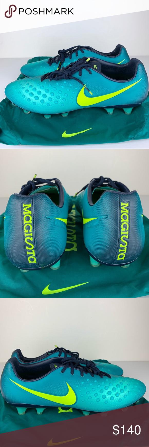 Nike Magista Opus II FG ACC Teal Blue Soccer Cleat Nike