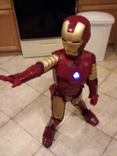 Iron man costume my husband made for his nephew Craft Ideas - halloween costumes ideas for men