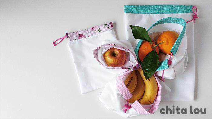 Tutoidea: Bolsas reutilizables para fruta y verdura con retales