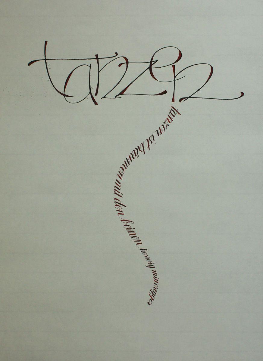 Kalligraphie - Calligraphy   schreibereien.de: Schreibereien