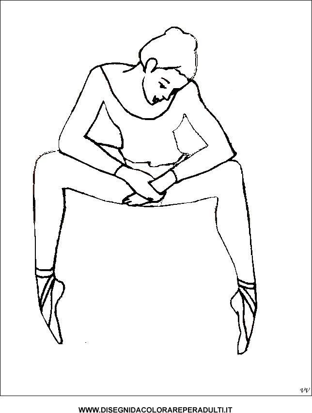 ballerina_seduta disegni da colorare per adulti
