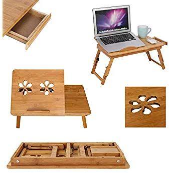mervy table de lit pliable pour pc portable notebook tiroir plateau de