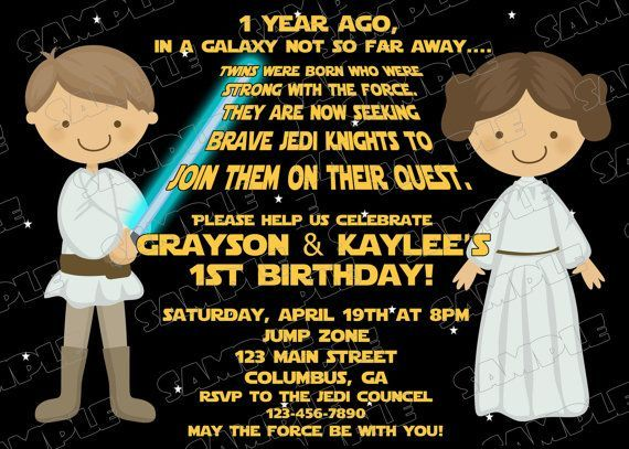 Mesmerizing Star Wars Birthday Invites Ideas For Additional Invitations
