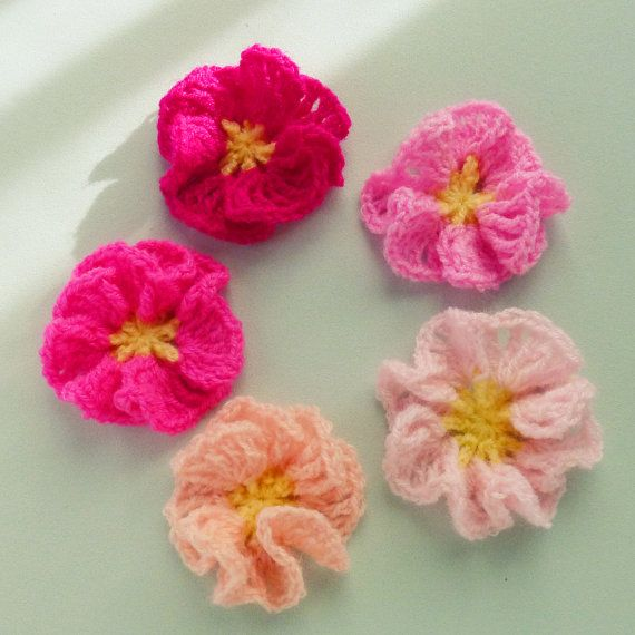 Crochet Flower Pattern Amelie Pdf Crochet Flower Ornament Hair