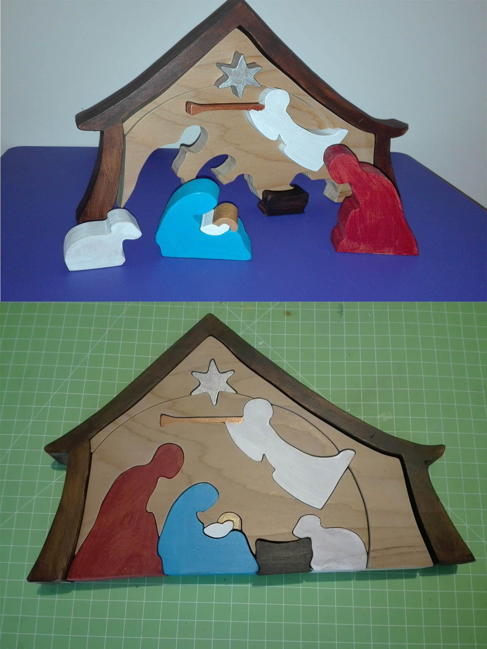 In preparazione del Natale ecco un altro presepio in legno di ...