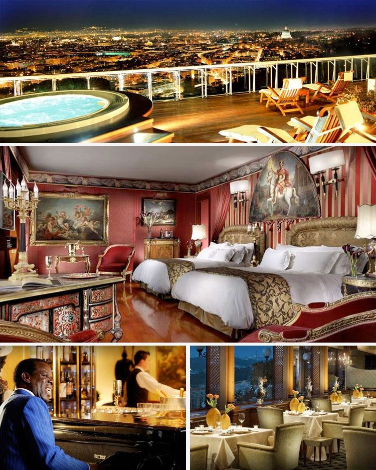 Rome Cavalieri the Exclusive Waldorf Astoria 5star Hotel