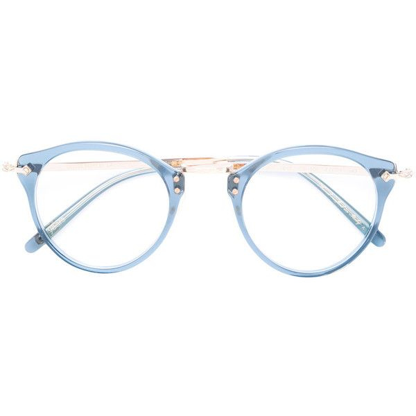 c9d8504555e Oliver Peoples round-frame glasses (2.695 BRL) ❤ liked on Polyvore  featuring accessories