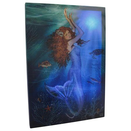 LED Lighted Mermaid Canvas Wall Art $59.99 Www.mermaidhomedecor.com    Mermaidu2026