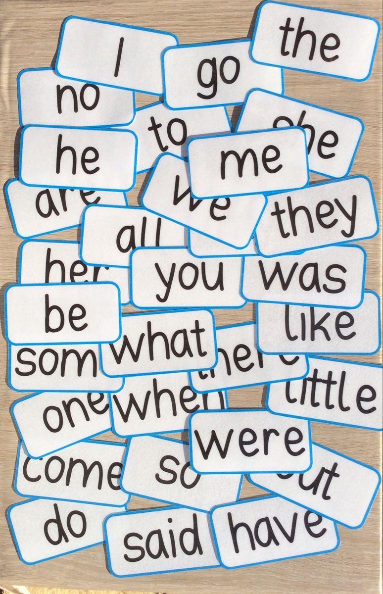 Tricky Words Flash Cards eBay in 2020 Tricky words