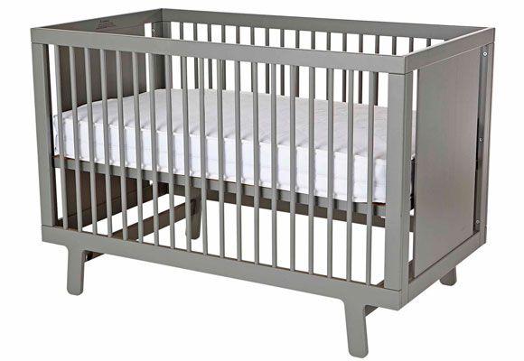 Oeuf Sparrow Cot In Grey 1199 Grey Nursery