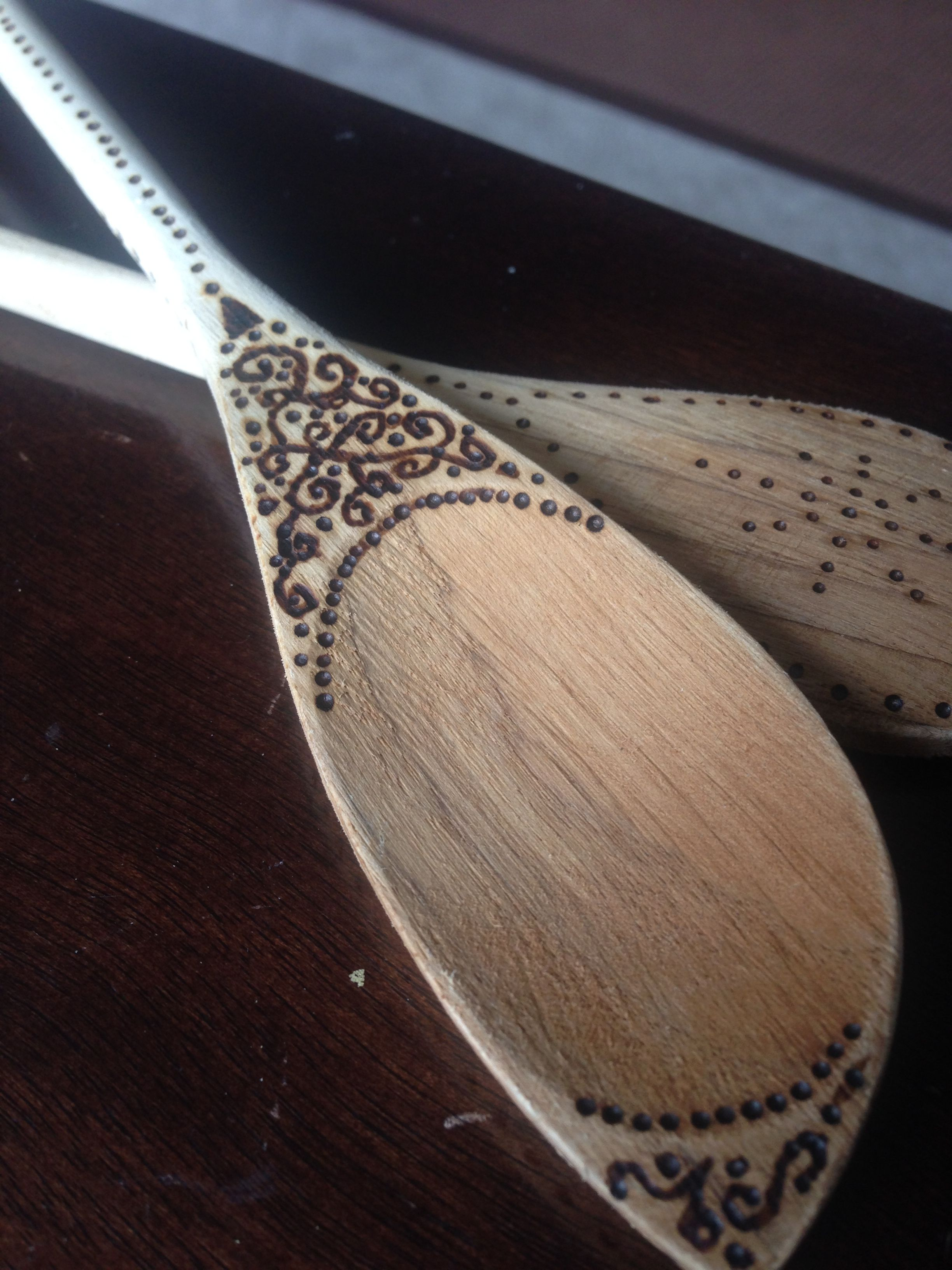 Woodburned Spoons Wood Burning Crafts Woodburning