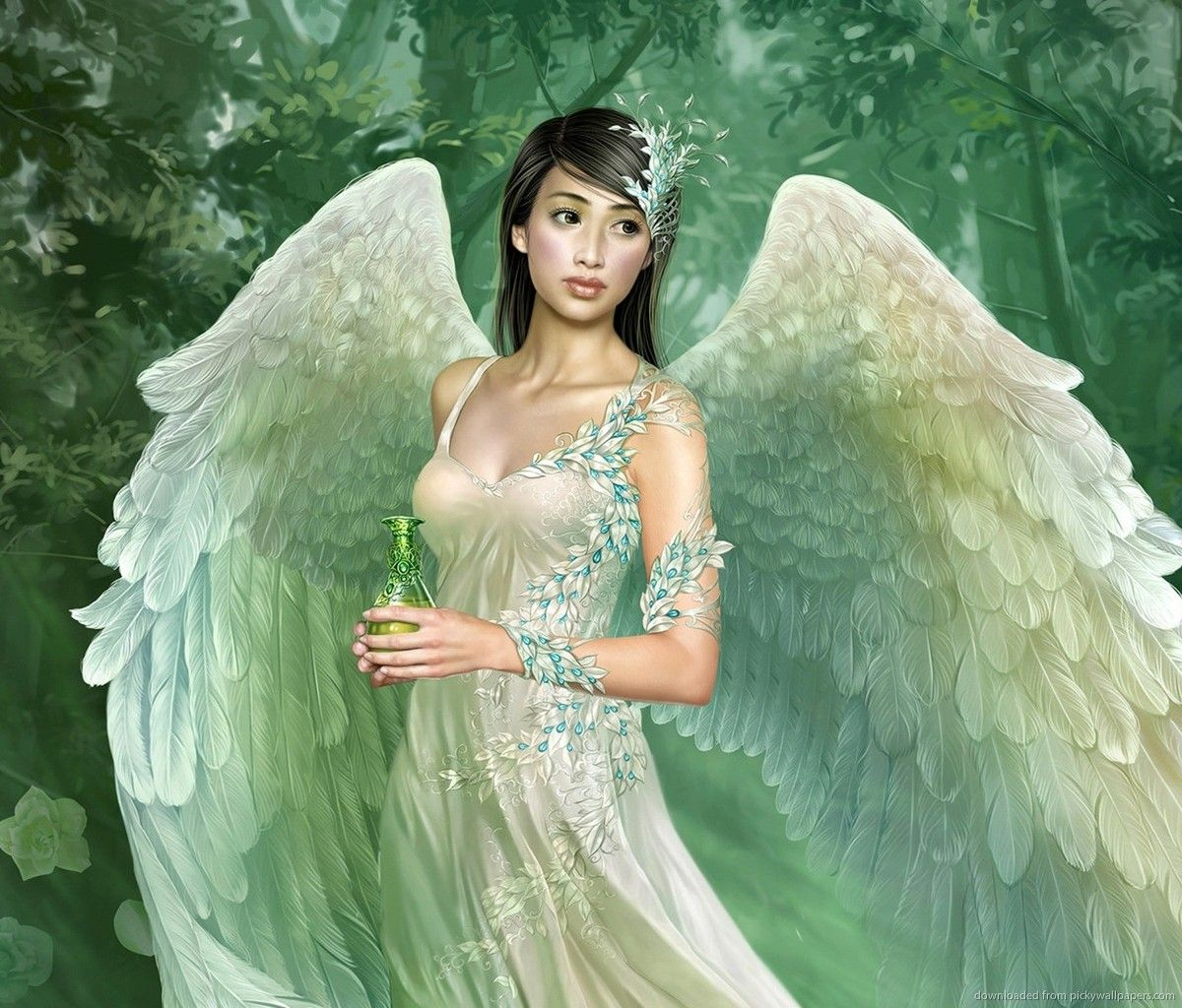 Winged Asian Girl Holding a Vial for Samsung Galaxy Tab