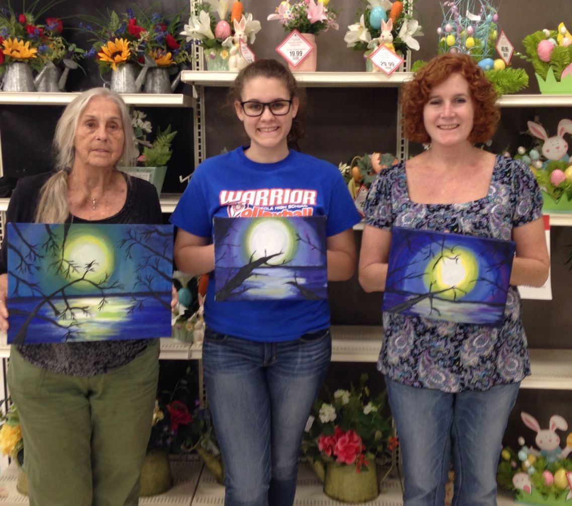 @joancrane: Painting at Michaels on Tuesdays 6-8 on 66th at @SuncoastArt http://t.co/dozJ3HUX7l