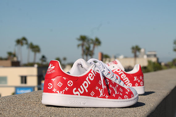 Custom Adidas Stan Smith Supreme X LV