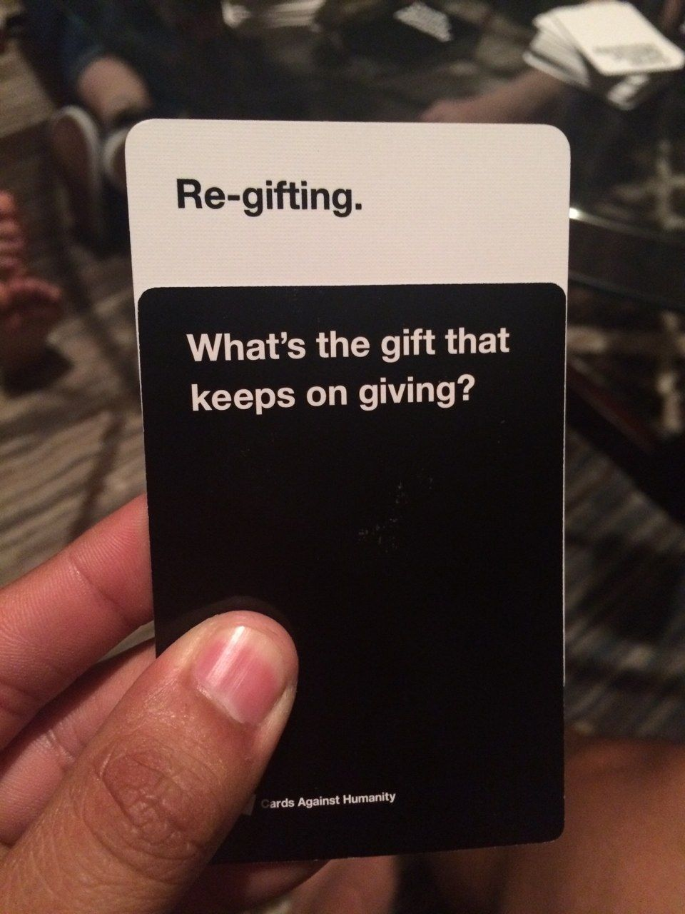 The worst cards against humanity cards to play around family