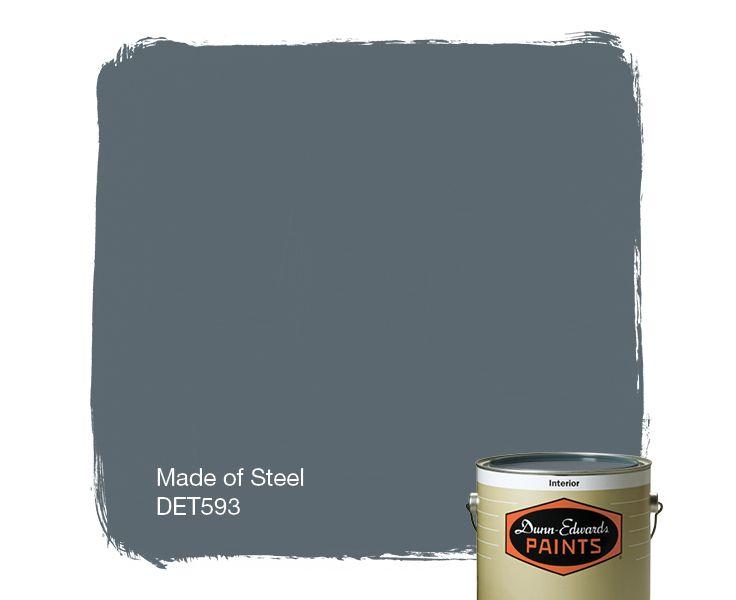 Made Of Steel Det593 Dunn Edwards Paints Remodeling
