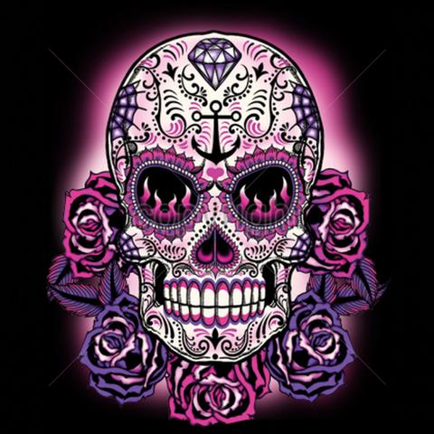 Womens Skull And Sugar Skull T Shirt Sugar Skull Tattoos Skull Skull Art