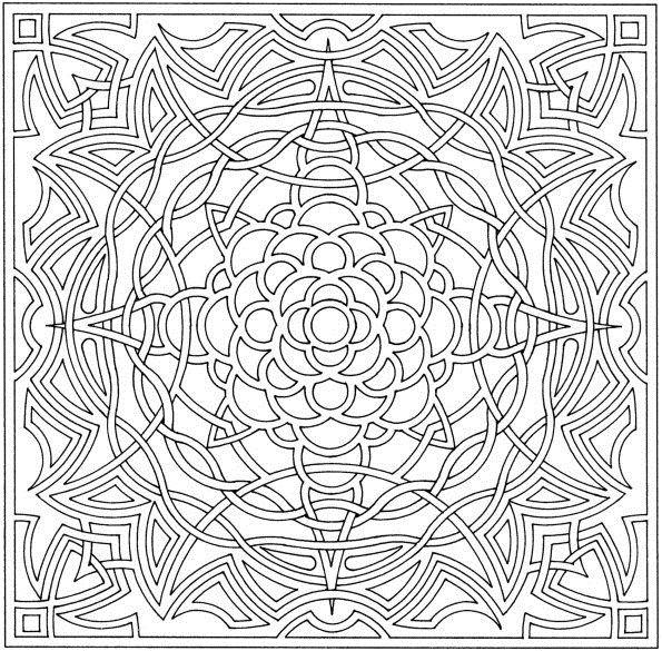 complex coloring pages online - photo#15