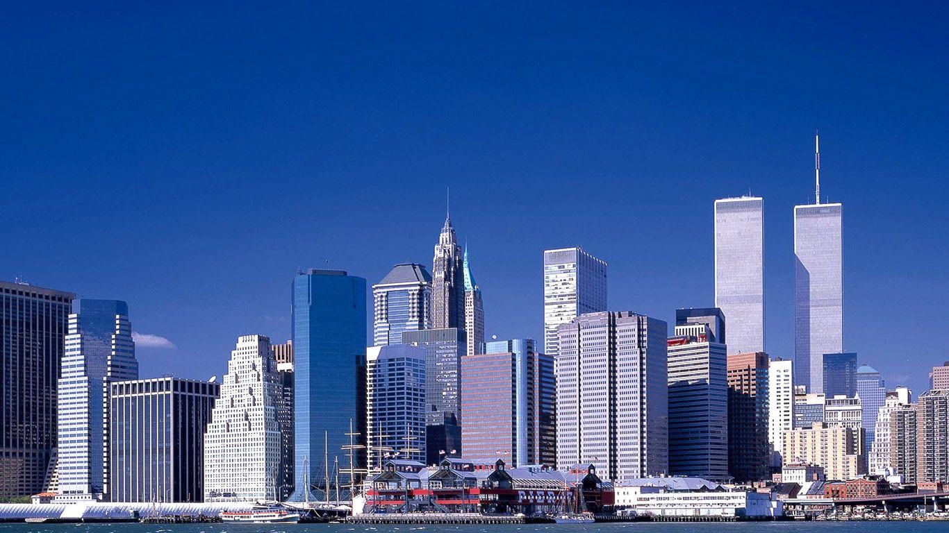 New York Amazing Buildings Wallpapers Hd 1366X768 Desktop