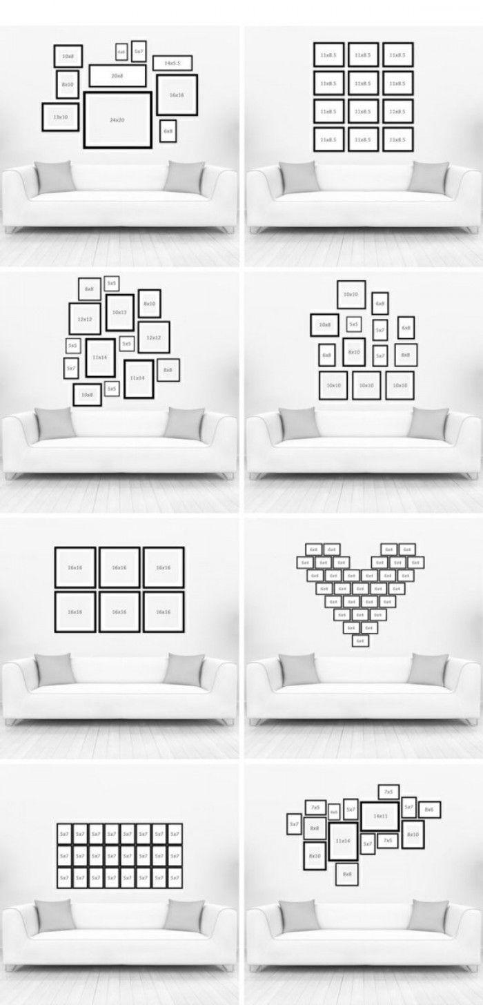 Verschiedene Ideen für eine kreative Fotowand (Picture Diy Ideas)