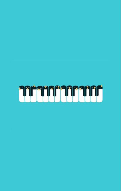 Penguin Piano Find More Minimalistic Iphone Android Wallpapers And Backgrounds At Pr Funny Iphone Wallpaper Funny Phone Wallpaper Iphone 5s Wallpaper