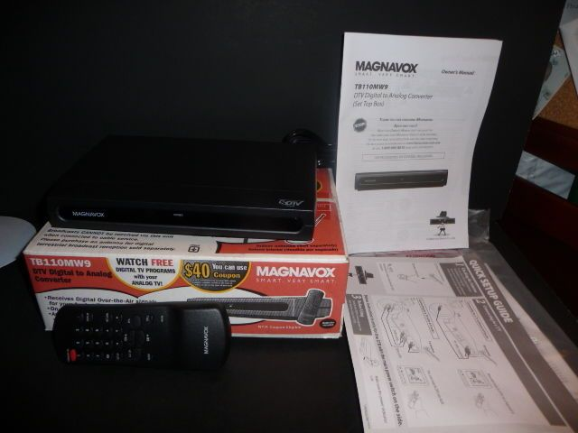 magnavox dtv digital to analog converter tb110mw9 with remote rh pinterest com Magnavox Model TB110MW9 Magnavox TB110MW9 Owner's Manual