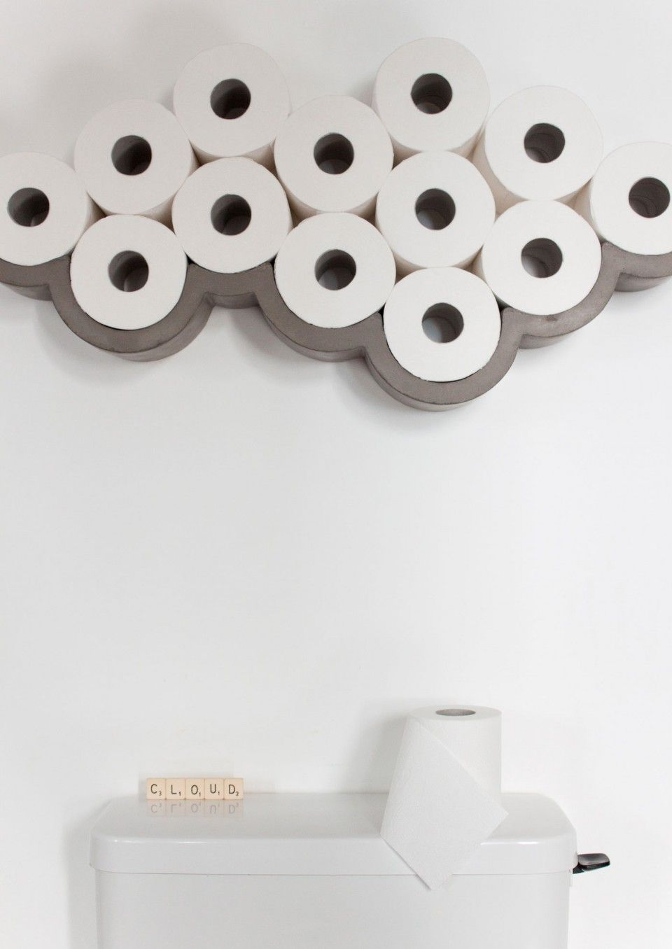 Cloud Toilet Paper Shelf By Lyon Beton Cloud Toilet Paper Holder Cloud Toilet Paper Shelf Small Toilet