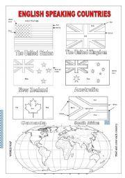 English worksheet: English Speaking Countries | Angielski ...
