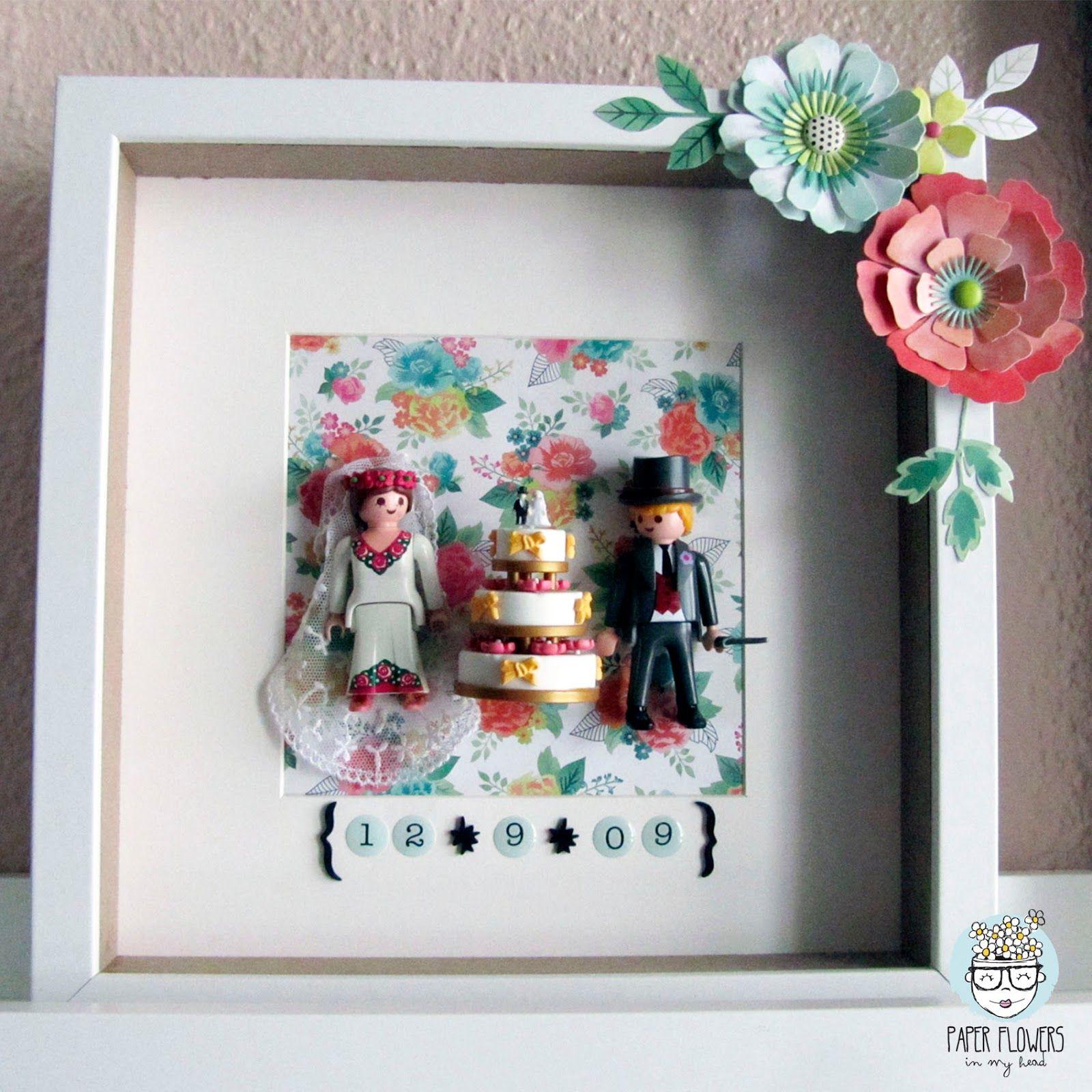 Qu hacer con los mu ecos de la tarta de boda cuadro - Como decorar un cuadro ...