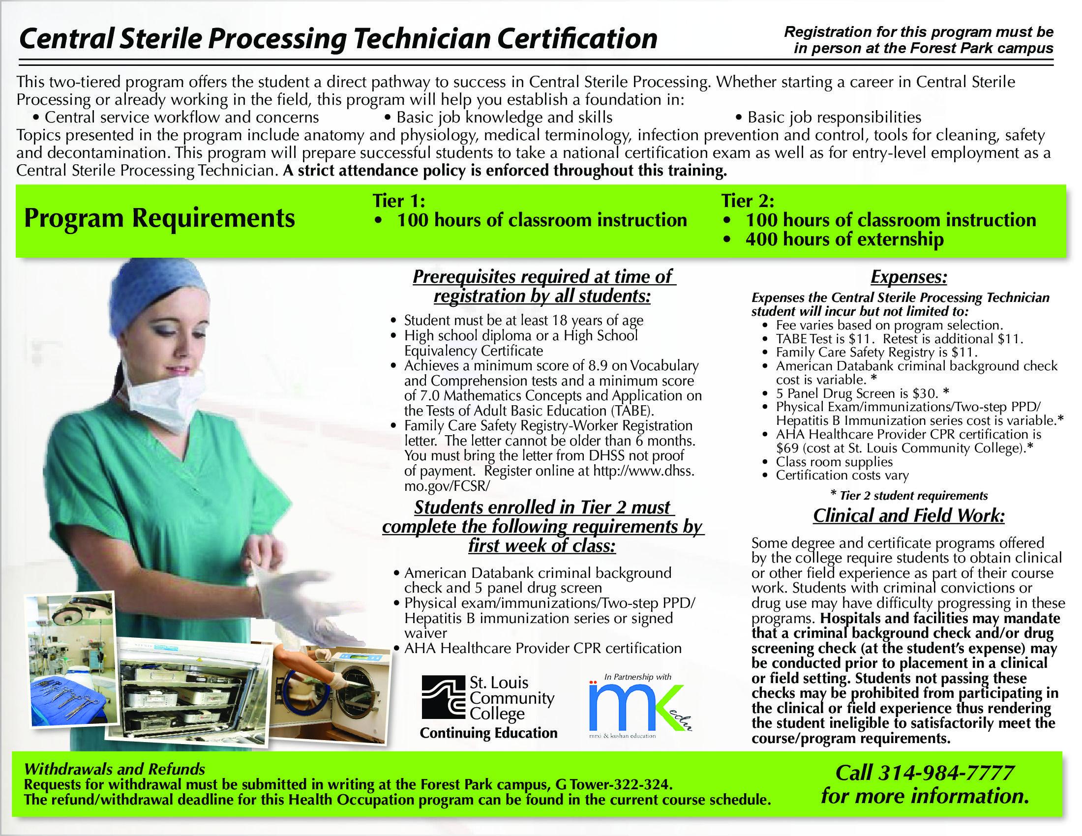 Central sterile processing technician training resources pinterest central sterile processing technician xflitez Choice Image