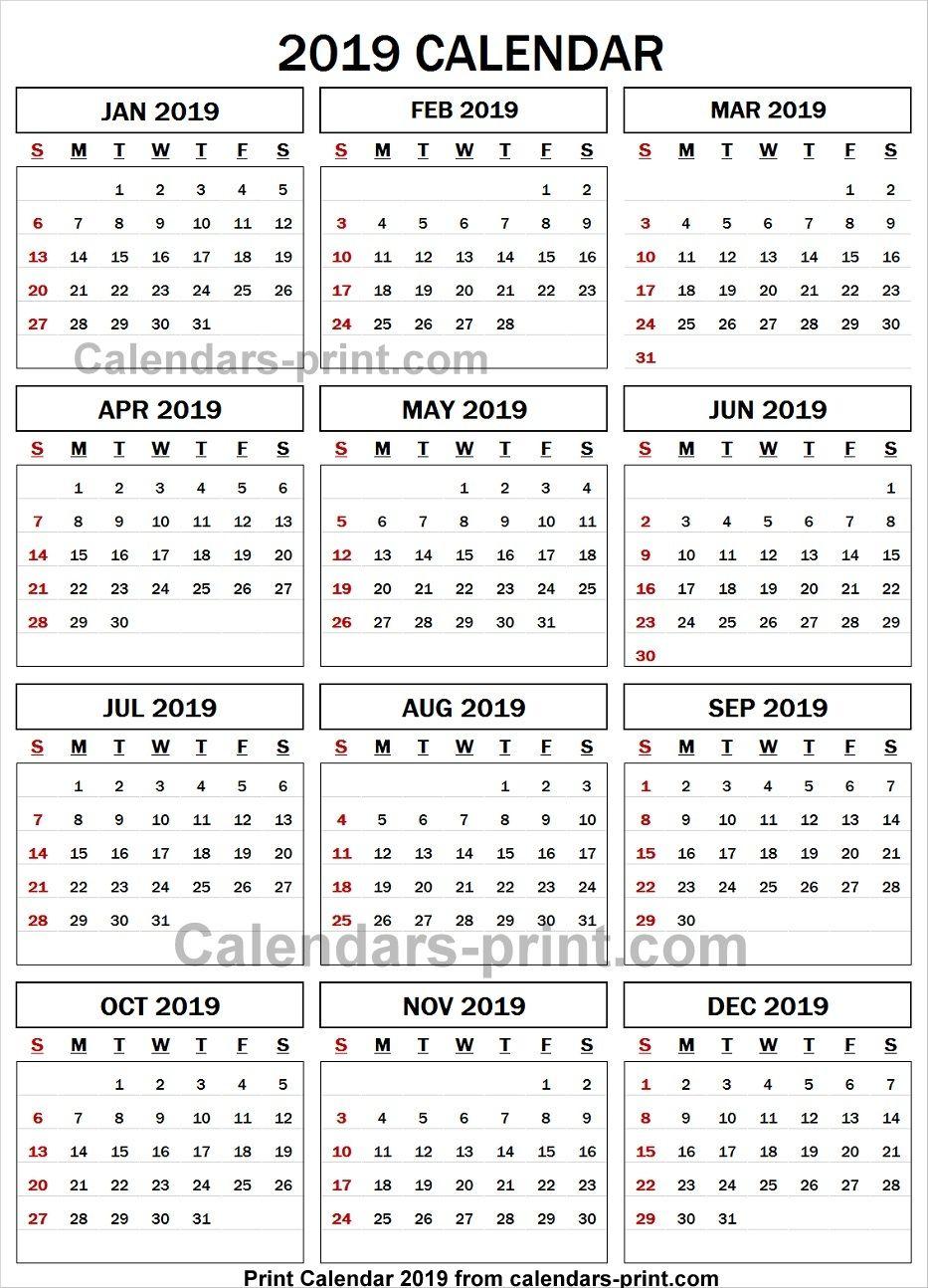 Calendrier 2019 Xls.2019 Calendar Spreadsheet 2019 Calendar Calendar Yearly