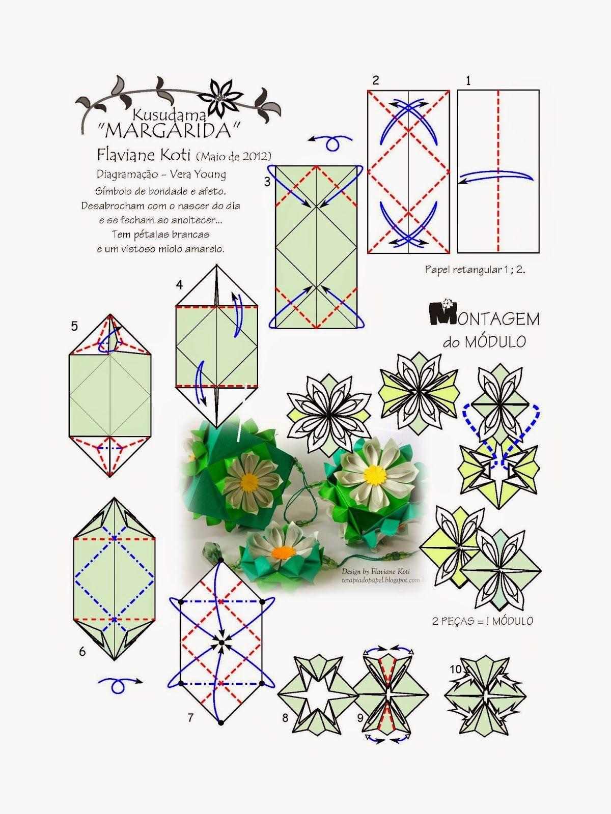 Terapia do Papel: TUTORIAL - Embalagem de Origami usando as dobras do livro ORIGAMI EM FLOR