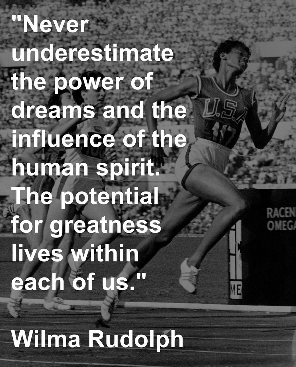 Perservance Quotes: Wilma Rudolph Quote Inspiration
