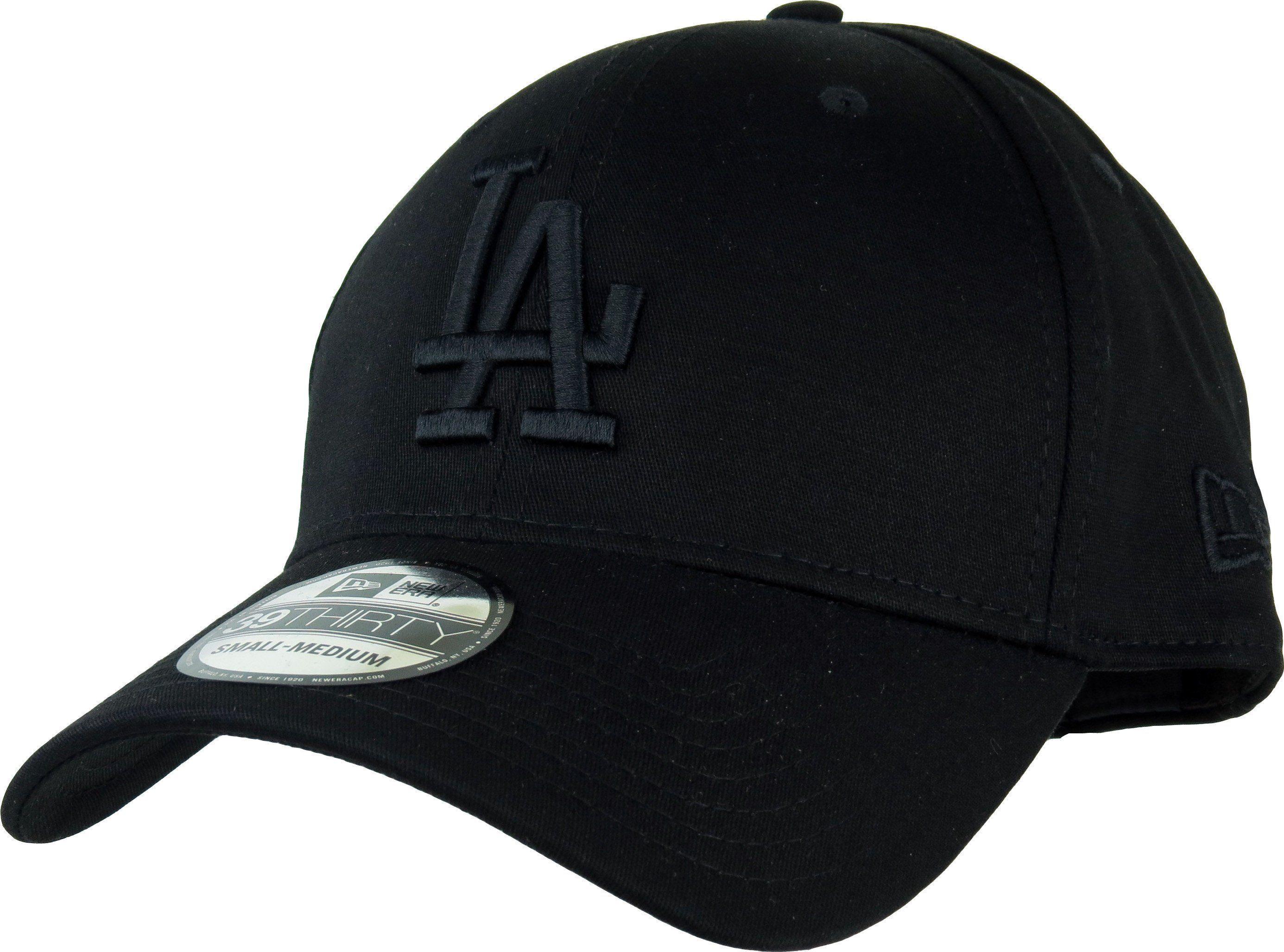 0658b322ed464 New Era 39Thirty Los Angeles Dodgers League Essential Baseball Cap. Black