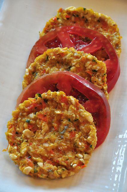 corn cakes with tomato