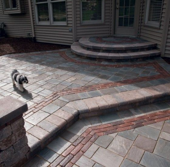 Patio With Steps By Unilock With Richcliff And Copthorne