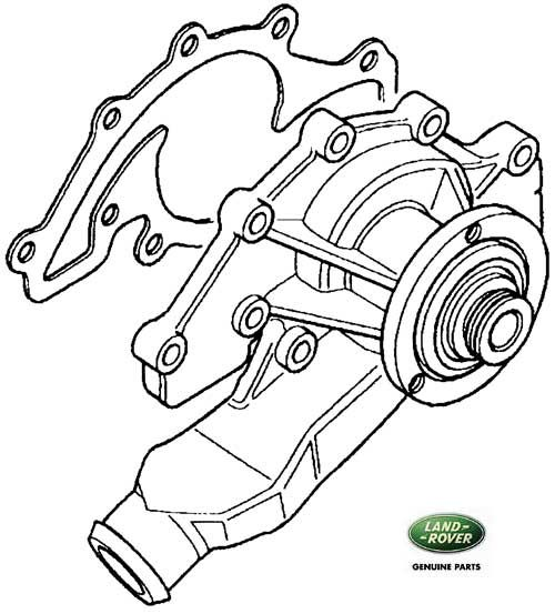 WATER PUMP '95 RANGE ROVER CLASSIC DISCOVERY I, DISCOVERY