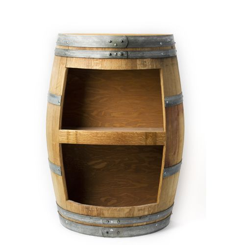 Half Barrel Bookcase Made From Real Wine Barrel Upcycle Recycled Barrel Wine Furniture Wine Barrel