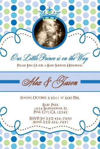 Little Prince And Princess Baby Shower Invitations