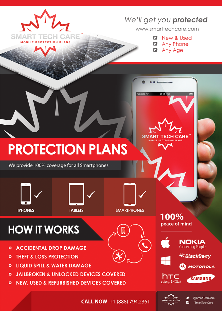 Smart Tech Care Flyer #GraphicDesign All Smartphones, Peace Of