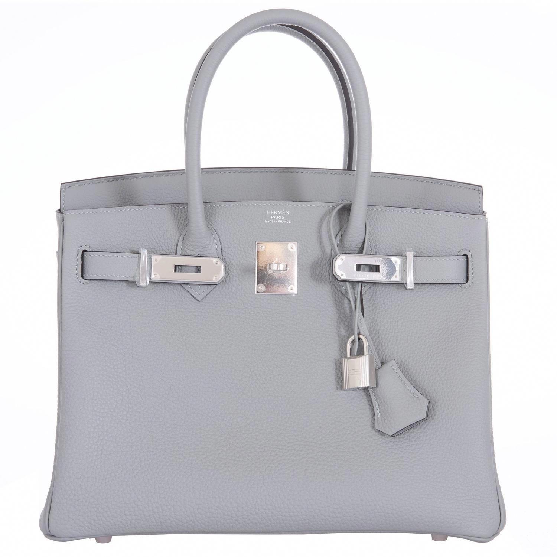 da00cd23a9 Hermes Birkin Bag 30cm Gris Mouette Palladium Hardware  hermeshandbagskelly