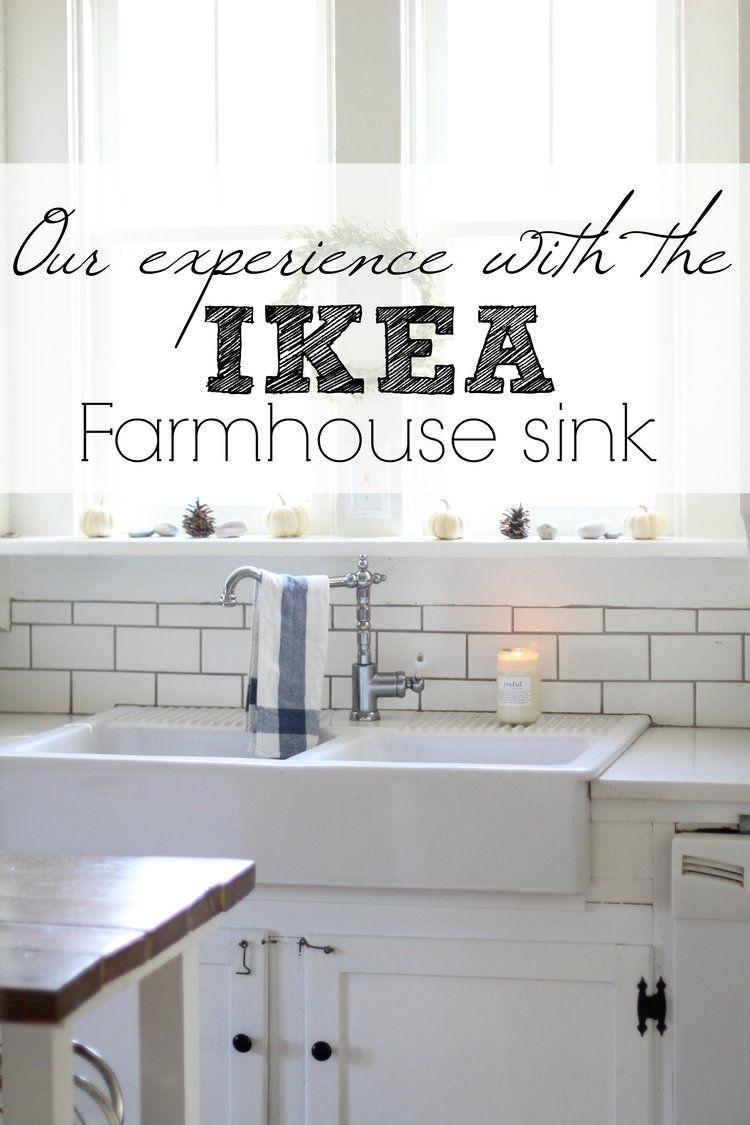 Our Experience With The Ikea Domsjo Double Bowl Farmhouse Sink Farmhouse Sink Kitchen Ikea Farmhouse Farmhouse Sink