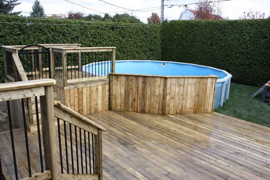 Id e de patio pour piscine hors terre recherche google for Piscine rectangulaire hors terre
