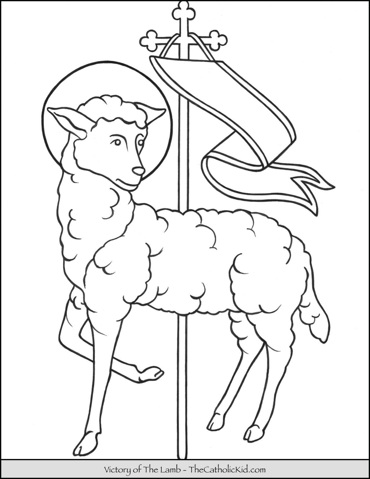 Victory Of The Lamb Coloring Page Thecatholickid Com Jesus Coloring Pages Angel Coloring Pages Animal Coloring Pages [ 1650 x 1275 Pixel ]