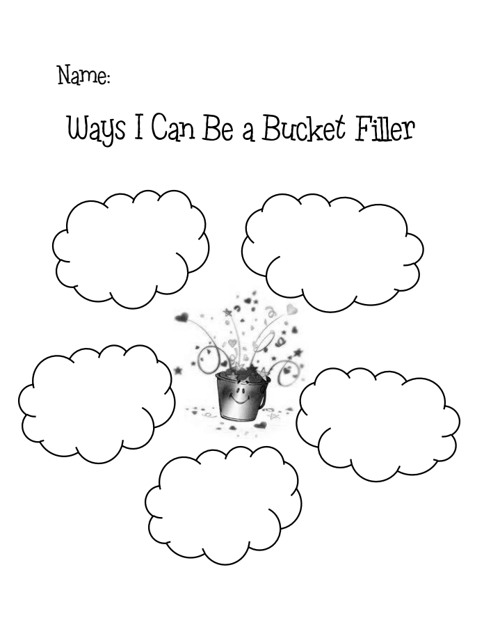 Ways I can be a bucket fillerpdf Elementary Counseling